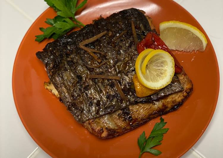 Grilled Balsamic Ginger Salmon