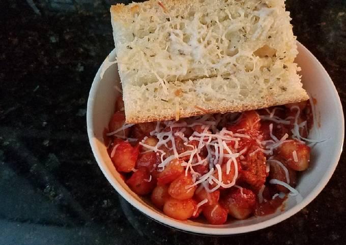 Italian Sausage & Gnocchi Spaghetti