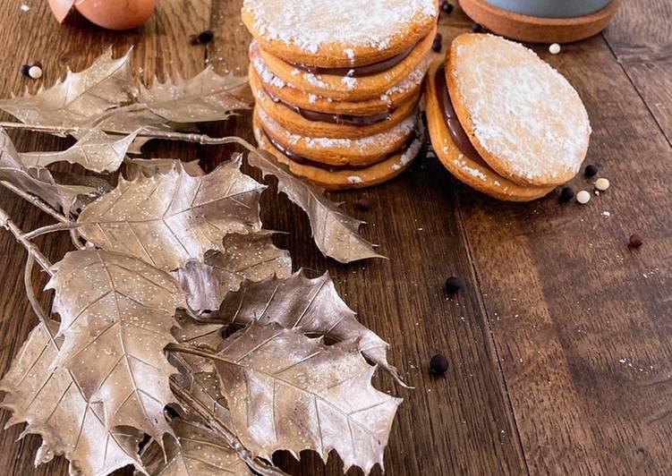 Comment faire Faire Appétissante Sablés fourrés à la pâte à tartiner