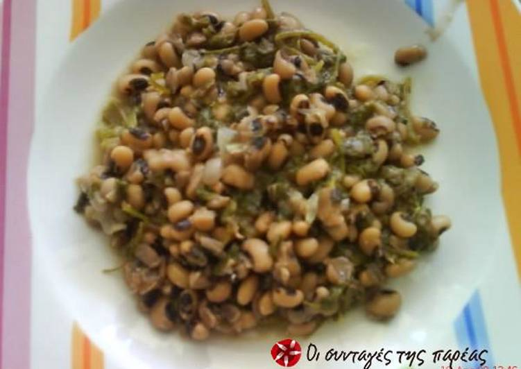 Black-eyed peas with wild greens
