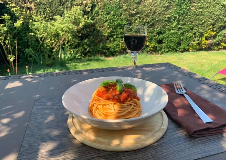 Spaghetti integrali all'Amatriciana a modo mio