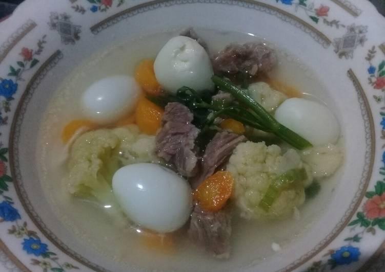 74. Sop daging telur puyuh Non MSG