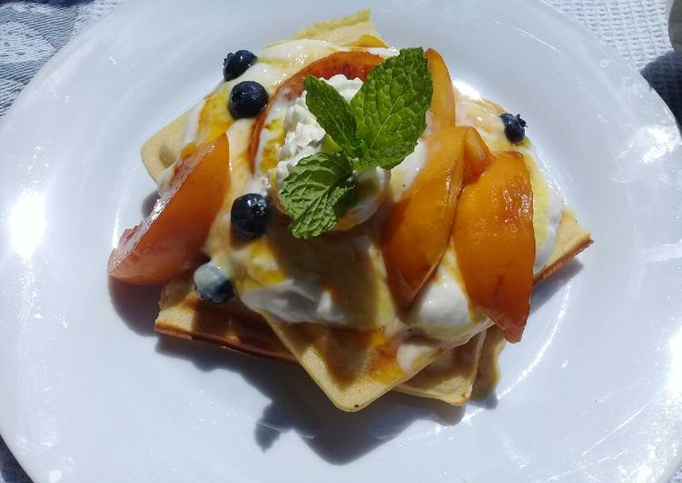 Old Fashioned Dinner Easy Favorite Peach strudel waffle