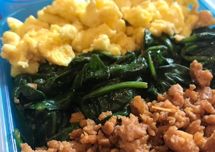 Chicken Soboro Donburi (Ayam Giling/Cincang Bento) Bekal Anak