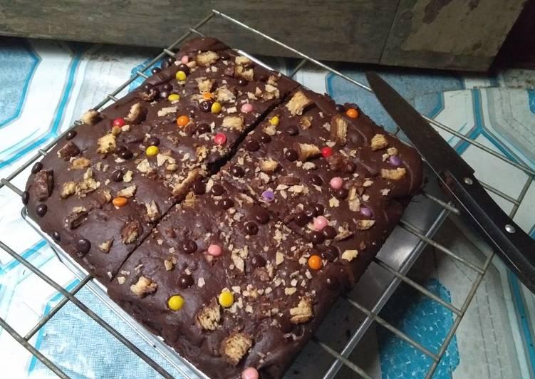 Resep Brownies Panggang Crunchy Lembut Nyoklat Banget