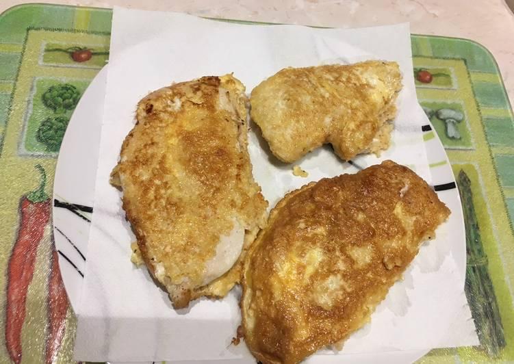 recette Escalopes de poulet panées le délicieux