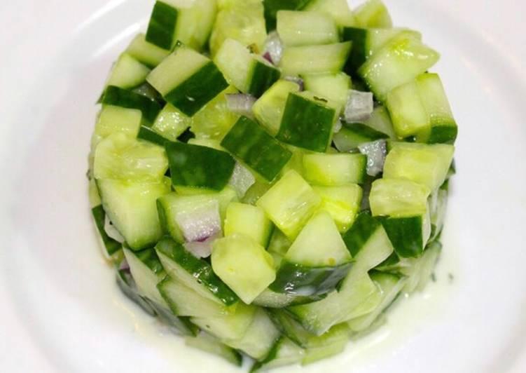 Recette: Appétissant Tartare de concombre aux herbes