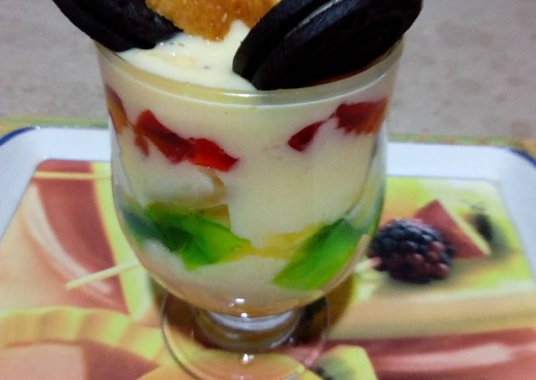 Steps to Prepare Homemade Orea vanilla custard