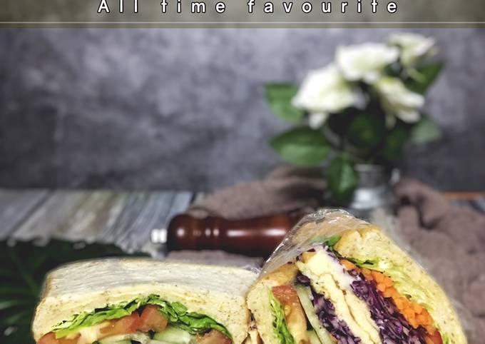 Wanpaku Sandwich mamaell : omelette and cheese