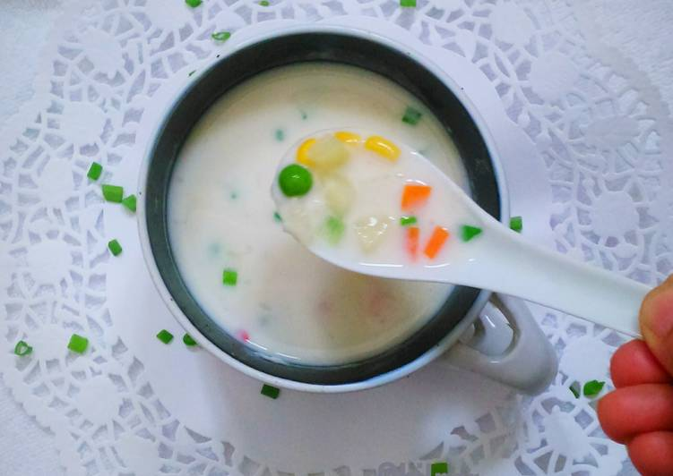 Creamy Vegetable Soup(Microwave recipe)