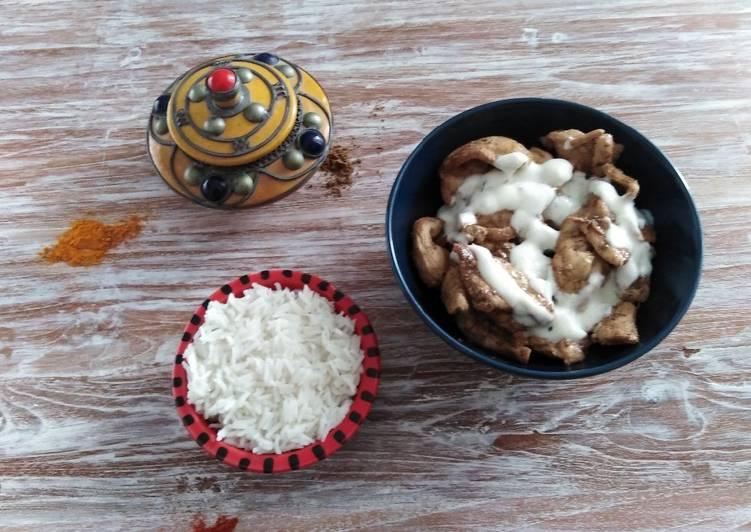 Garam Masala di pollo con salsa di yogurt