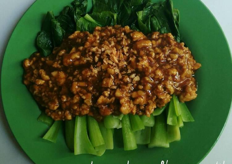 Pakcoy cah ayam&bawang putih