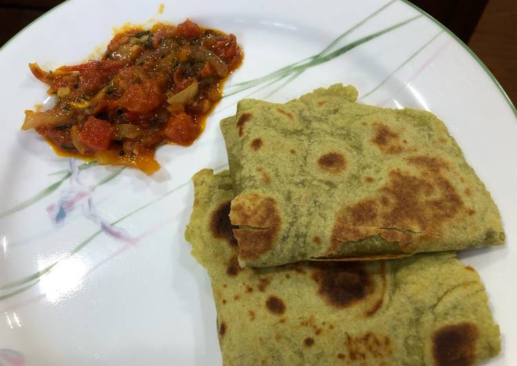 Whole wheat Avocado roti (tortilla)
