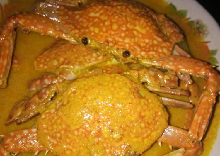 Gulai kepiting khas minang