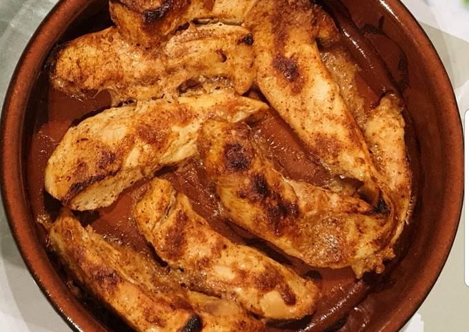 Émincée de poulet tandoori