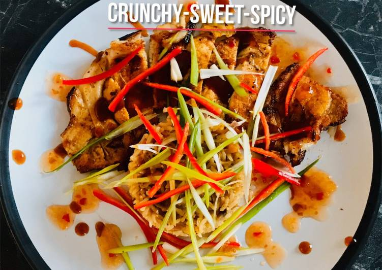 Recipe of Super Quick Homemade Crunchy-Sweet-Spicy
