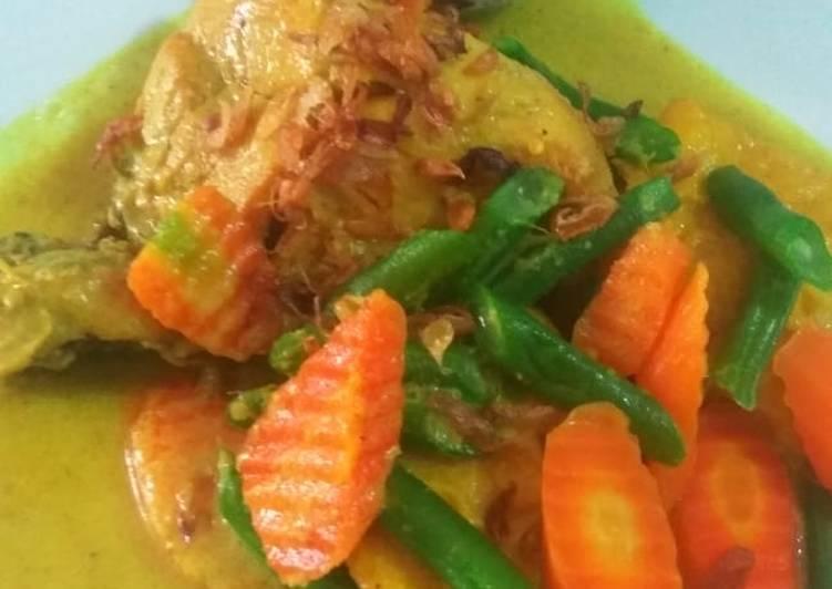 Cara Siapkan Gurih Kari Ayam Dan Sayuran
