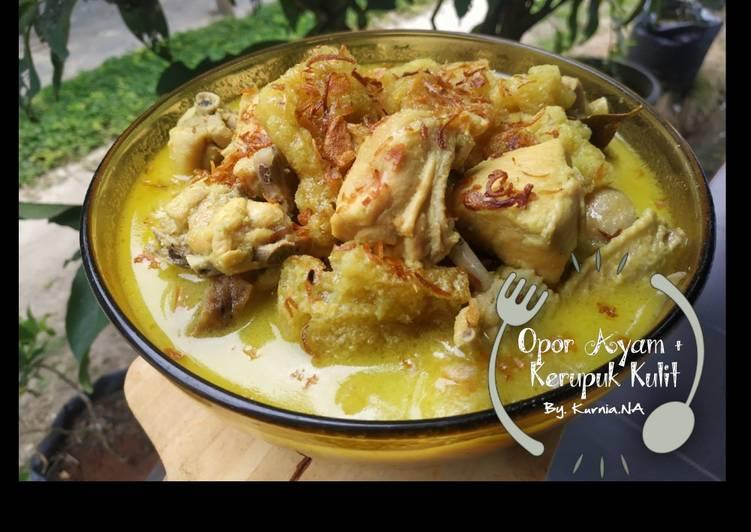 Opor Ayam Kerupuk Kulit