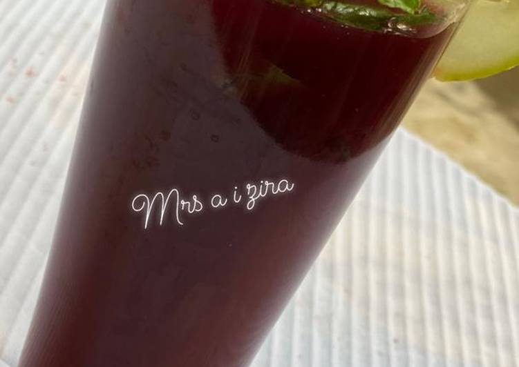 Easiest Way to Prepare Perfect Mint Zobo