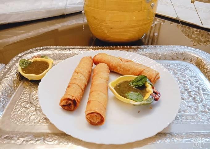 Crispy chicken spring rolls #cookpadramadan #sehricontest