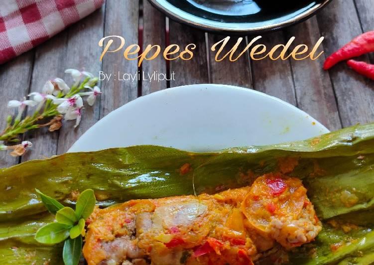 Pepes Wedel (jeroan bandeng)