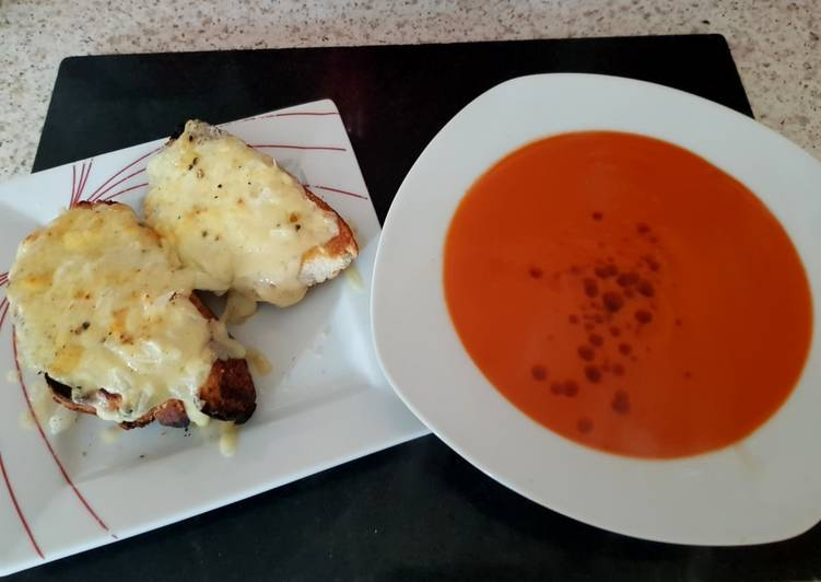 How to Prepare Perfect Cheese+Onion OnThick Toast With Tomato Soup.James Martin