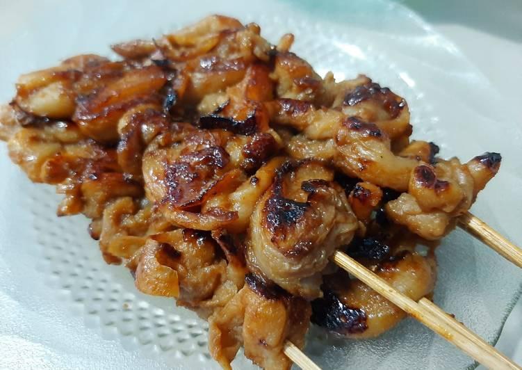 Sate Jamur Tiram bumbu kacang kecap -dengan Double Pan HappyCall