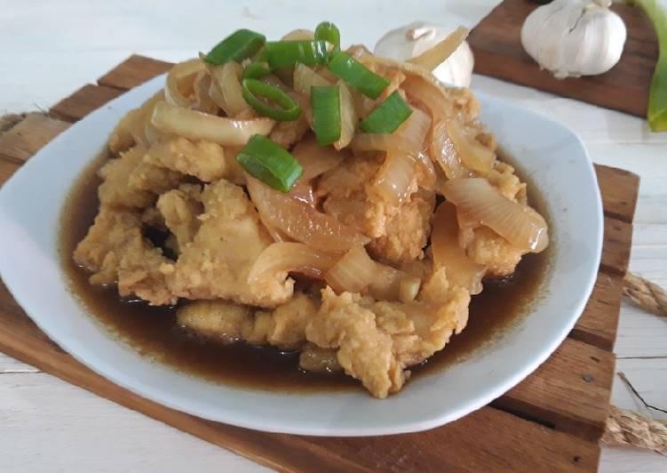 Cara menyajikan Fillet Ayam Teriyaki ala Solaria  yang Enak