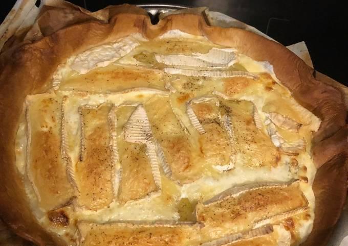Tarte camembert pommes de terre