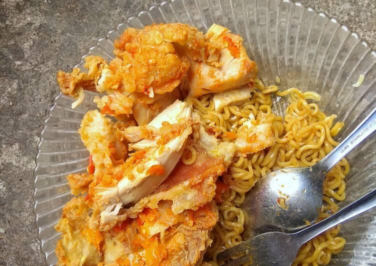 Cara Gampang Membuat Indomie goreng vs ayam geprek sambal korek Anti Gagal