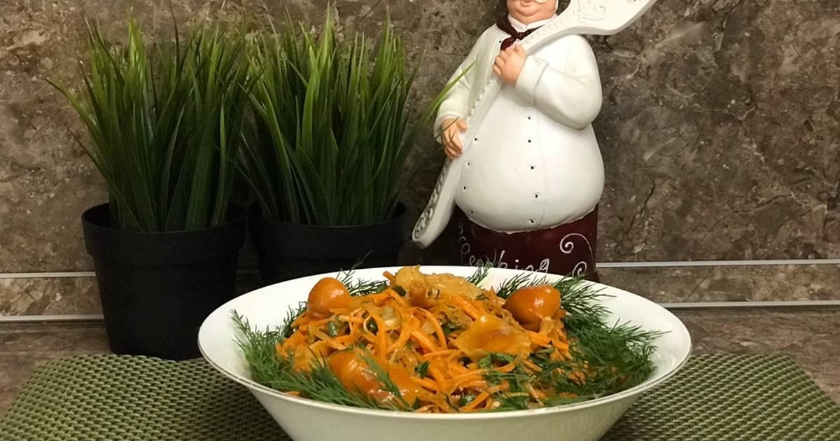 Салат с опятами - несколько вариантов вкусных блюд: рецепт с фото и видео