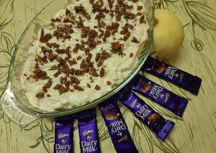 Creamy apple dessert