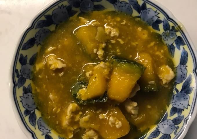 Kabocha soboroni- kabocha in ginger meat sauce