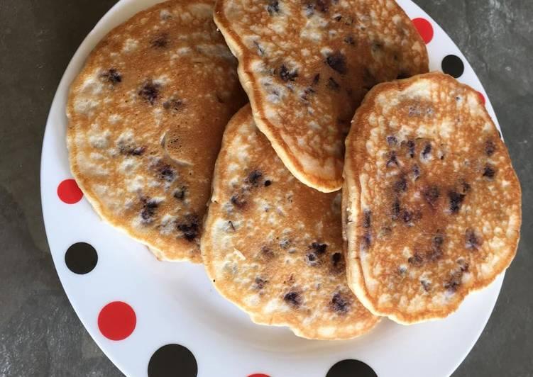 Recette Savoureux Pancakes aux myrtilles