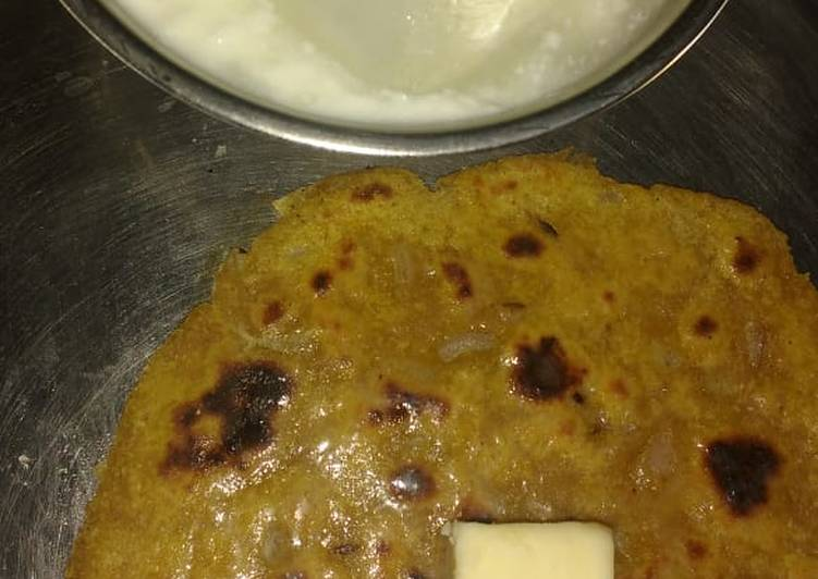 Recipe of Any-night-of-the-week Leftover dal paratha
