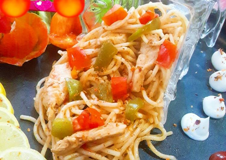 Recipe of Most Popular Chicken spaghetti