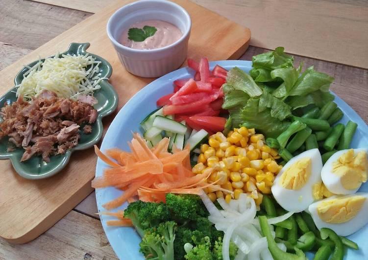 Resep Thousand Island Salad (Salad Sayur) oleh Afrida Ayu Candra - Cookpad