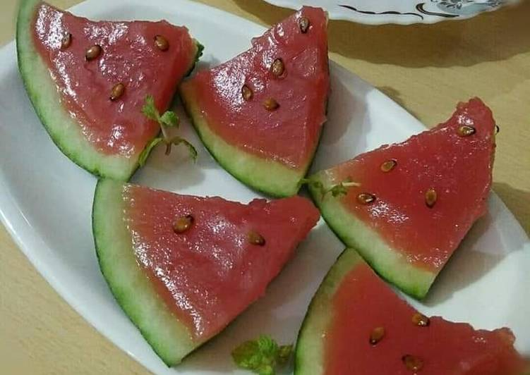 15 Minute Simple Way to Make Summer Watermelon Jelly