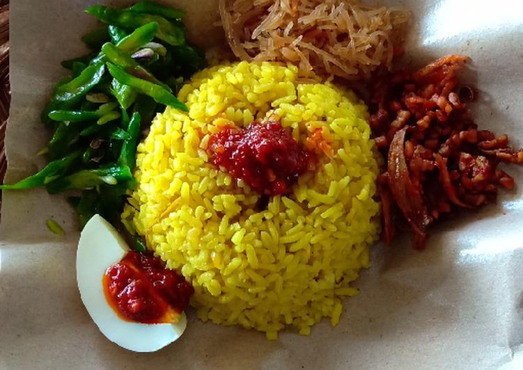 Cara membuat Nasi kuning favorit bakulan