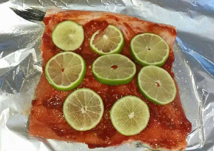 Steps to Prepare Ultimate Brad's chile lime grilled salmon