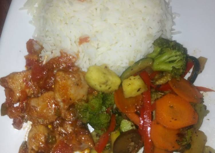 Recipe of Ultimate Rice veg and chicken # four weeks challenge