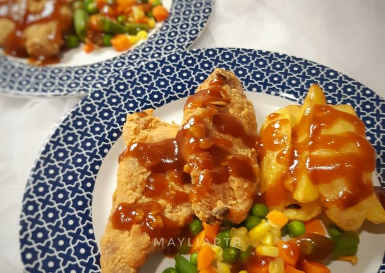 Chicken Steak Saus Teriyaki