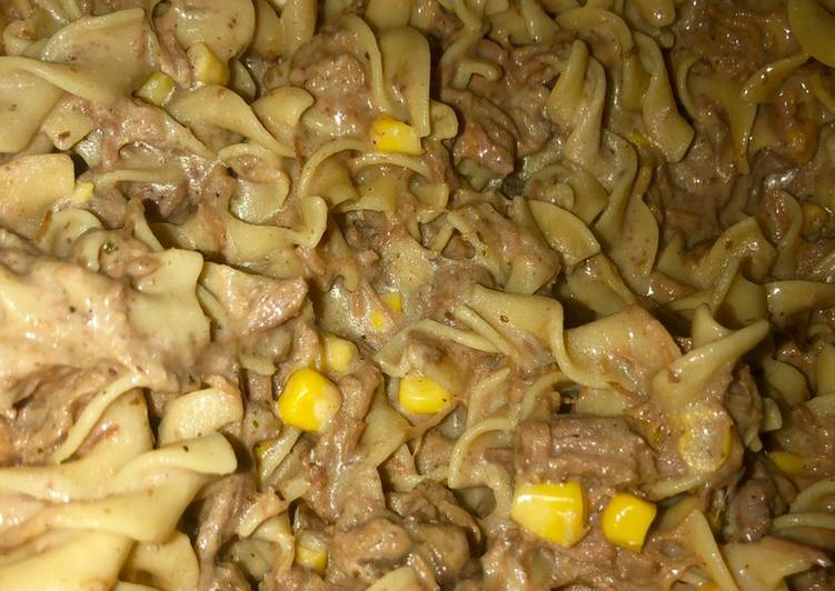 Recipe of Ultimate Nenas Creamy Beef N' noodles