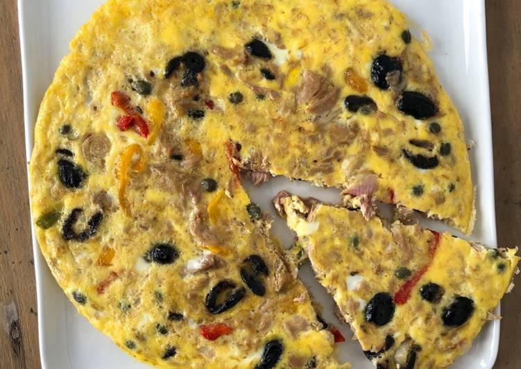 Façon la plus simple Faire Parfait Omelette aux miettes de thon et poivron