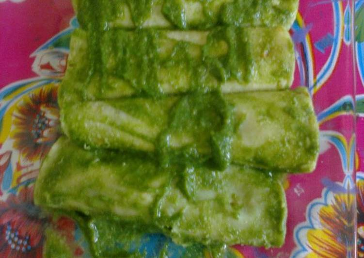 Enchiladas mexicanas verdes, veganas, Doña Rafailita del Ocote