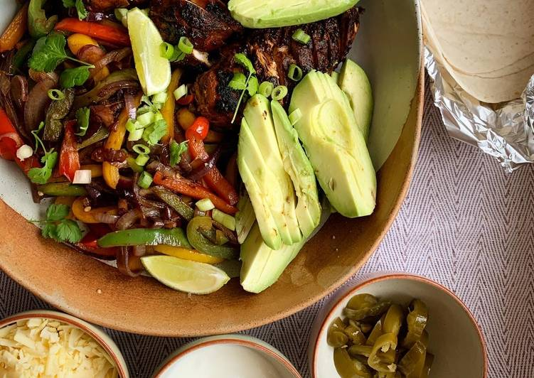 Recipe of Quick Blackened chicken fajitas