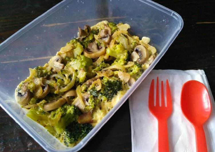 Cara Gampang Menyiapkan Brokoli jamur kaserol Anti Gagal