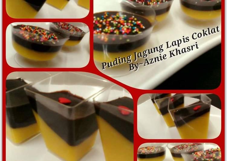 Puding Jagung Lapis Coklat - velavinkabakery.com