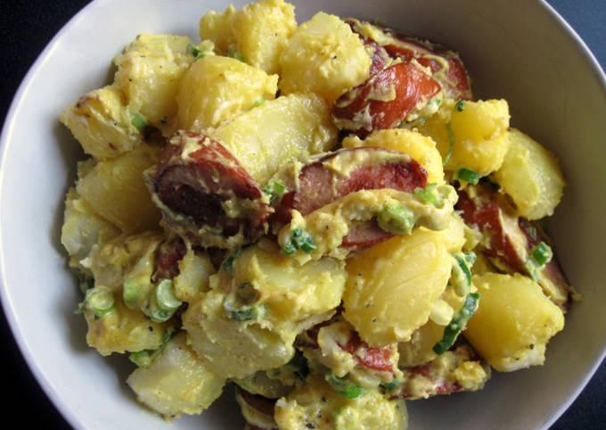Curry Flavoured Smoked Sausage & Potato Salad