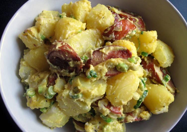 Curry Flavoured German Sausage & Potato Salad